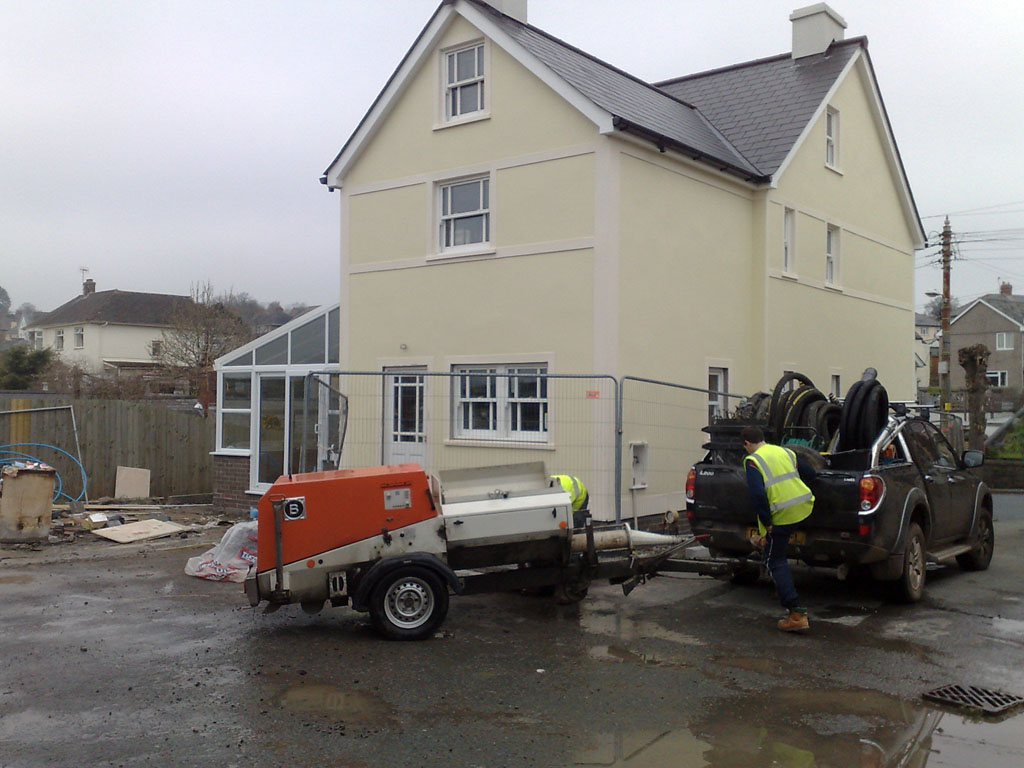 New Build in Brecon Powys.