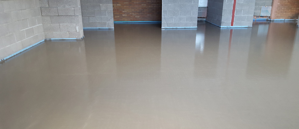 Fast Dry Liquid Screed Llanfoist Village Hall